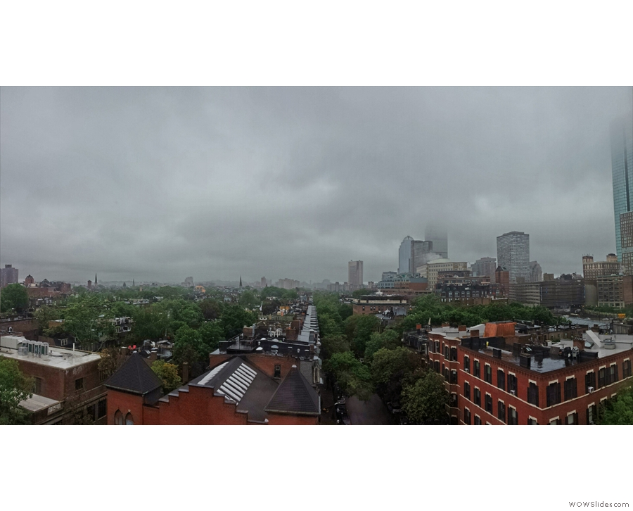 Cloudy skies greeted me on my first day in Boston. Just like home then!