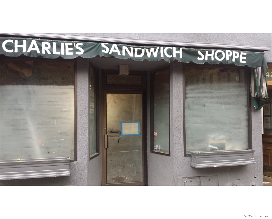 Normally I would go to Charlie's Sandwich Shoppe for breakfast, but sadly it's gone.
