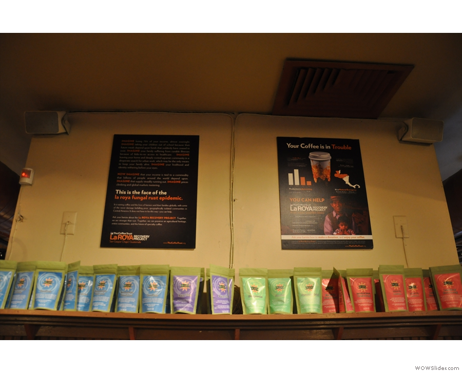 Coffee Exchange is very big on fighting coffee rust, a major threat to coffee growing regions.