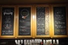 There's a handy set of panels above the beans, explaining the various roasts.
