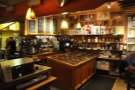 At the far end of the counter, you can buy lots of coffee beans and coffee kit.