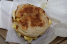 I also picked up a breakfast sandwich (egg and cheese) on an English muffin.