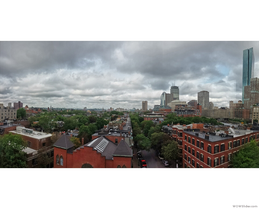 My third morning in Boston and its finally stopped raining. There are even hints of blue sky.