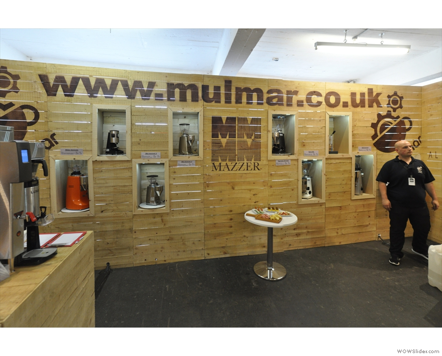 The Mulmar stand at the London Coffee Festival...