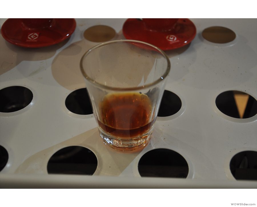 And here's a sample in my new 6oz Jococup glass.