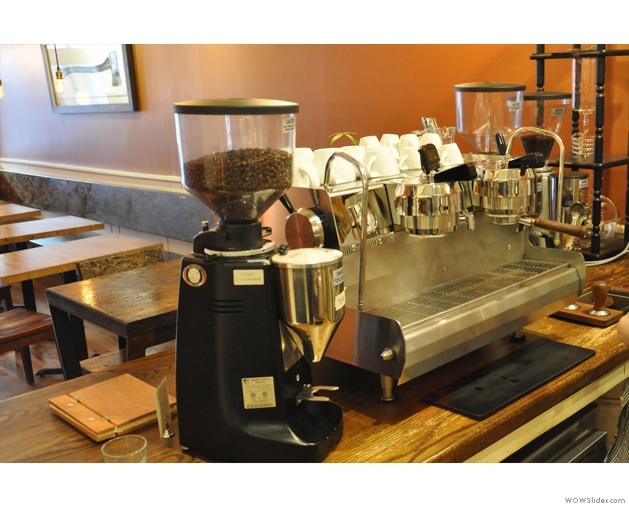 ... and a shiny new Synesso espresso machine...
