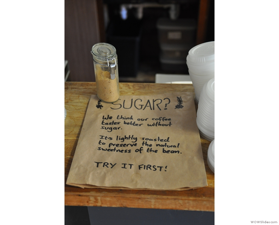 Upshot wears its coffee geekery on its sleeve...