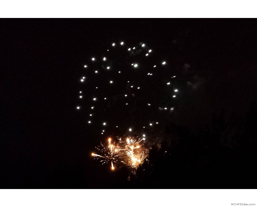 I leave you with the firework display laid on for us during a stop at Syracuse Station.
