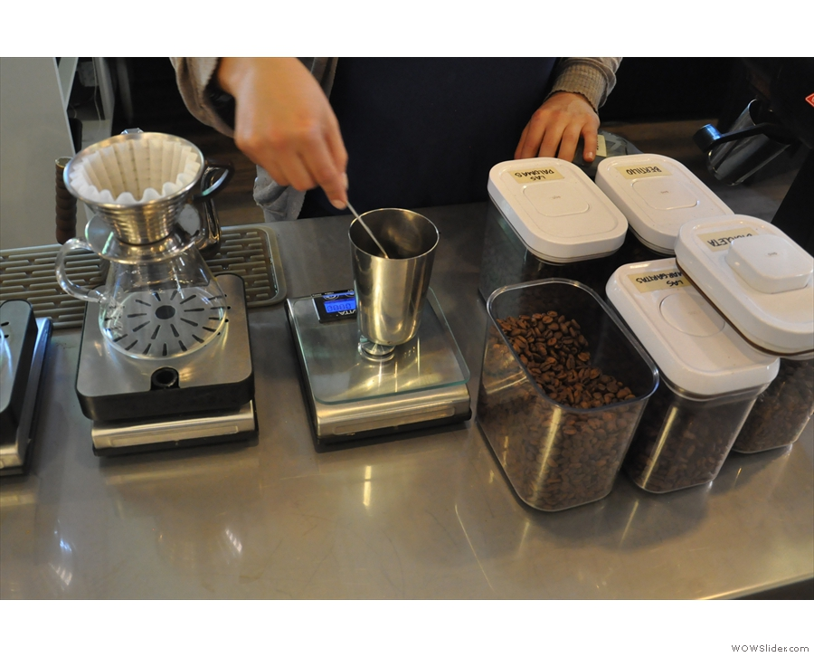 Then weigh your coffee beans out...