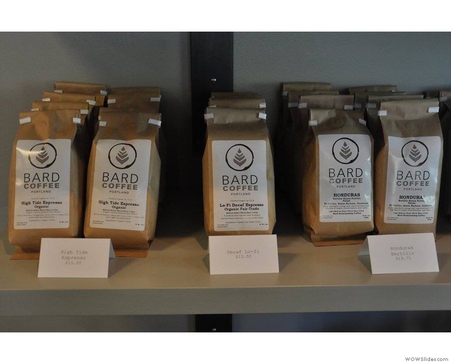 Lots of beans, in fact, starting with the espresso & decaf blends, the only ones Bard does.