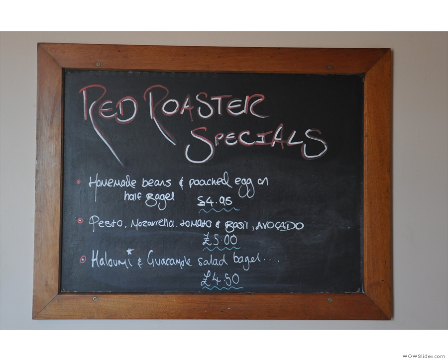 ... or something from the specials board, hidden around the corner.