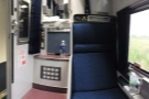 .. and here in the morning as a two-seat private seating compartment.