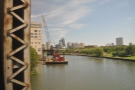 Crossing the Chicago River: almost there!