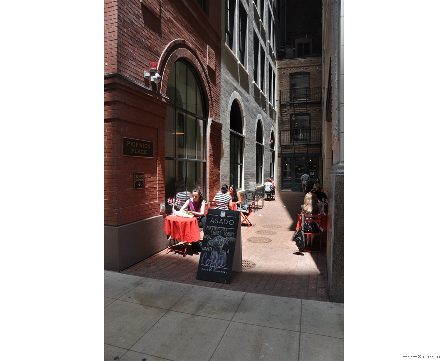 A look down the alley...