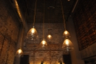 The lights are just as gorgeous, especially these six which hang from the ceiling.