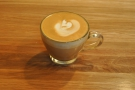 ... and a very good cortado in a lovely glass cup.