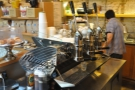 The heart of the operation, the 3-group lever Kees van der Westen espresso machine.