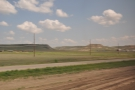 The landscape also got quite interesting. I believe that this is typical of the Badlands.