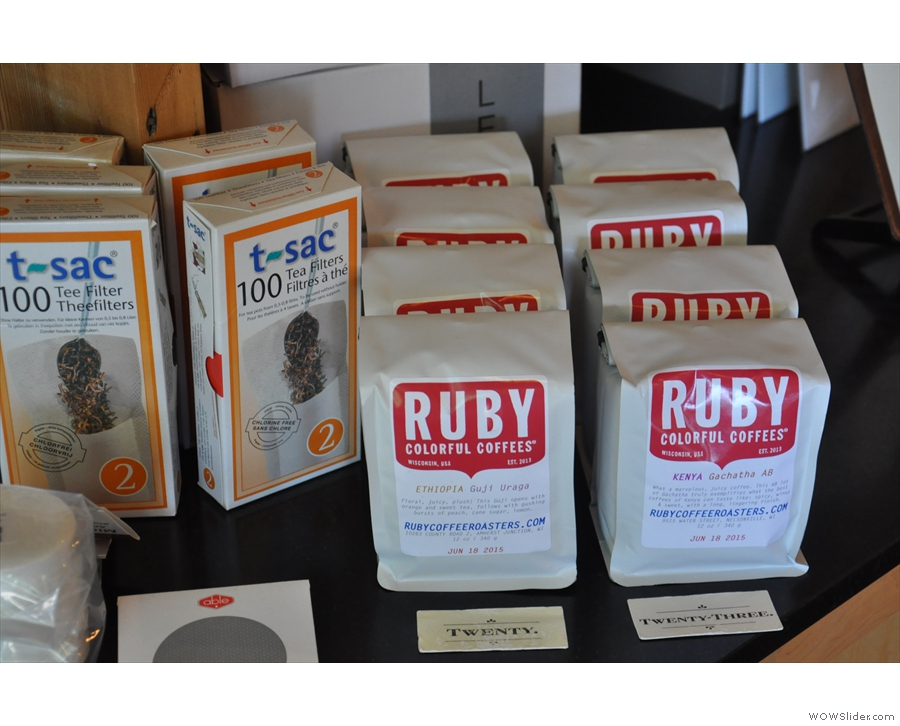 ... while there's also coffee from further afield in the shape of Ruby, from Wisconsin.