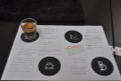 The espresso takes its place on the coffee mat, which comes with explanatory notes.