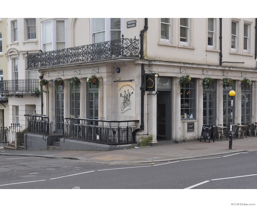 Small Batch's latest outpost on the corner of Norfolk Square, along the Western Road.