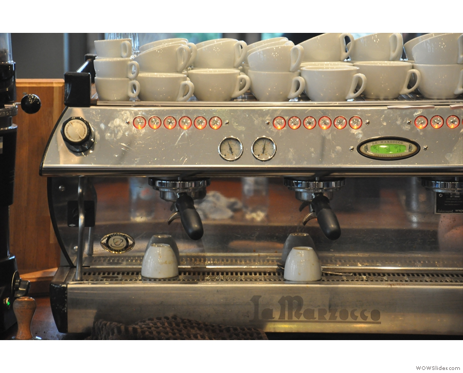 The espresso machine in detail...
