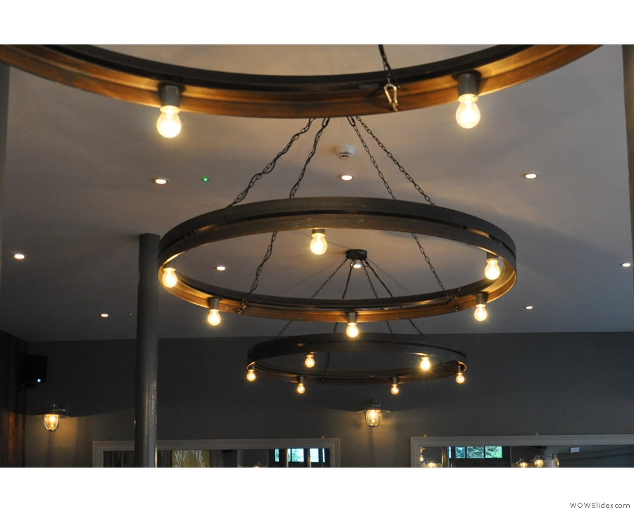 The light-fittings are something to behold. There are three of these lighting rings.