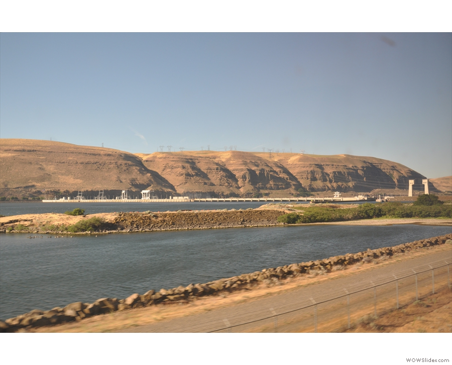 ... the Dalles Dam, one of many built to tame the Columbia River.