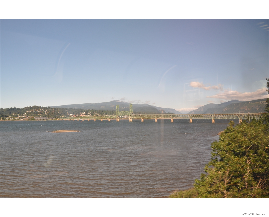 The next major town along, and the next bridge over the river, is Hood River.