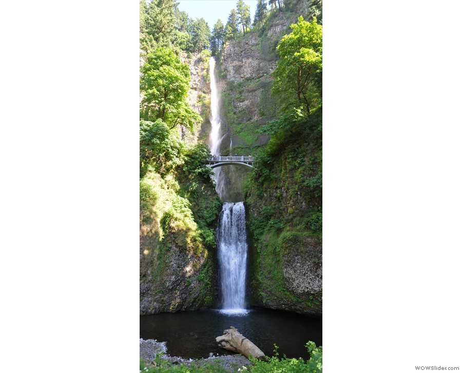 It's only a short walk to the bottom of the falls and this spectacular view.