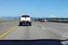 Driving out into the Columbia Gorge (in Marc's hire car) & a first view of Mt Hood.