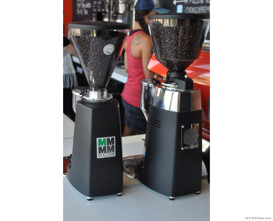 ... with its twin grinders, one for house-blend and one for single-origin.