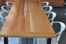 The communal table in more detail.