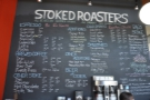 ... part of the very comprehensive drinks menu chalked up on the wall behind the counter.