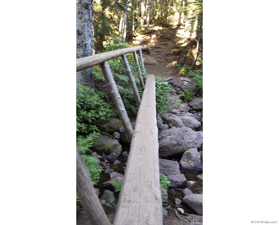 ... while the bridges over the creeks got ever more challenging!
