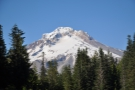 The snow-capped peak of Mount Hood.