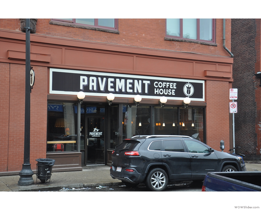 Pavement Coffeehouse on Gainsborough St. You know the drill: rule the world, parking, ban.