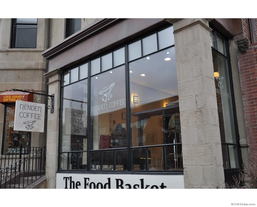 Render Coffee, above the Food Basket on Columbus Avenue.