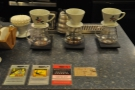 When I came back, I went for pour-over. The choices are stuck to the counter!