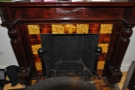 Some of the detail of the fireplace.