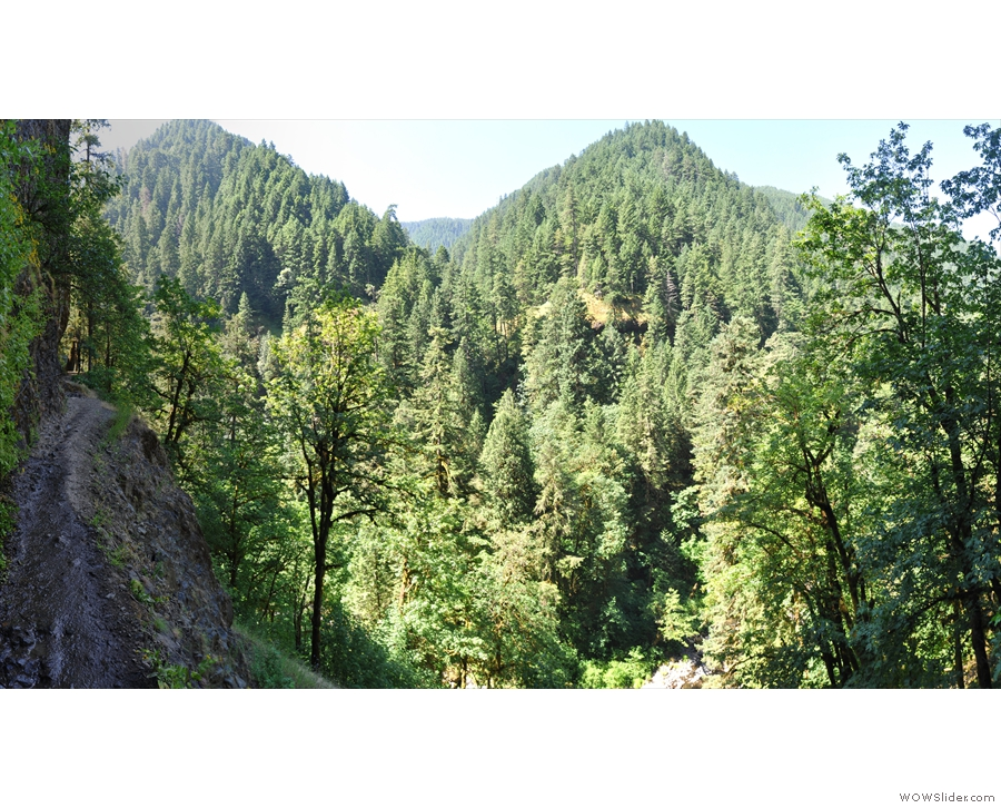 The hike up the valley is fairly easy, but it is steep-sided and a long way down!