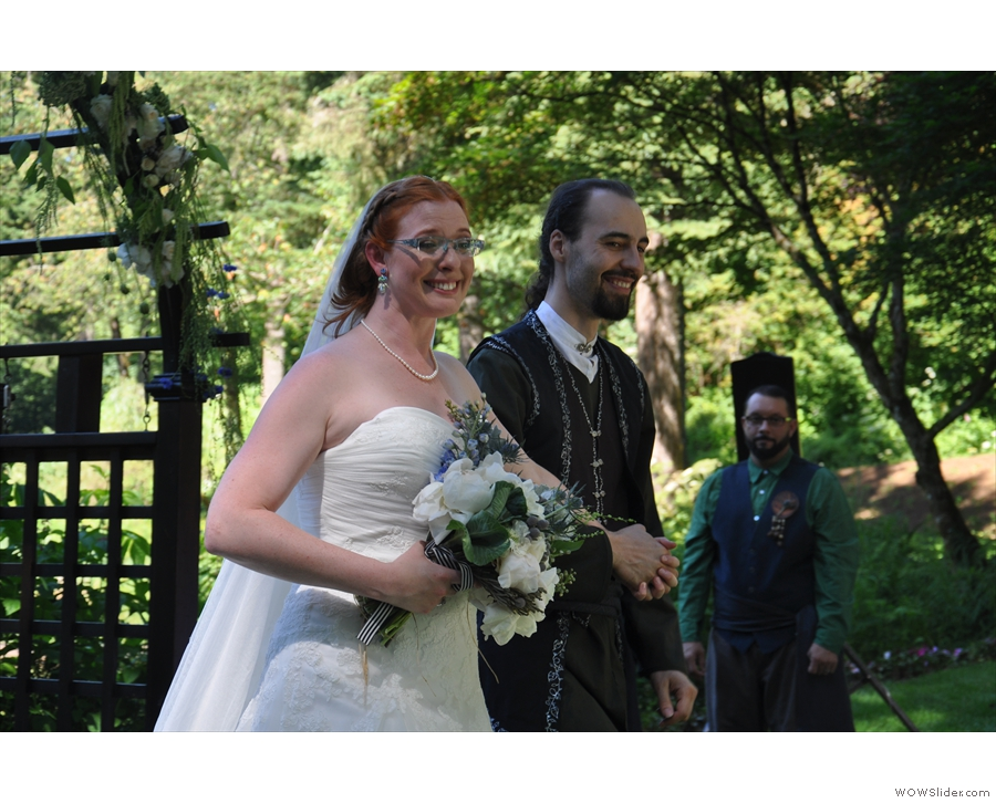 The happy (married) couple.
