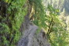 Sections of the path get very narrow, with hand-ropes for the nervous!