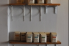 ... and on the opposite wall you can buy Stumptown coffee to take home