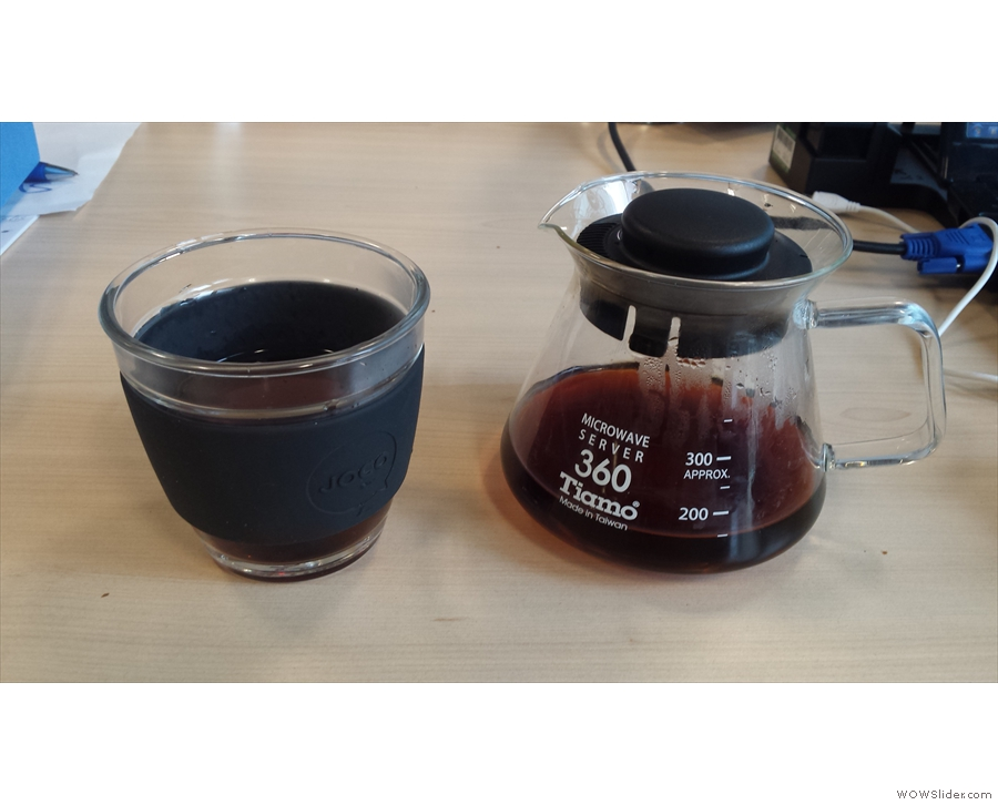 Just like KeepCup, it's not all flat whites & espresso: JOCO Cup at work with some filter.