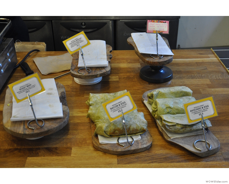 ... next to which are the wraps. These are looking a bit depleted...