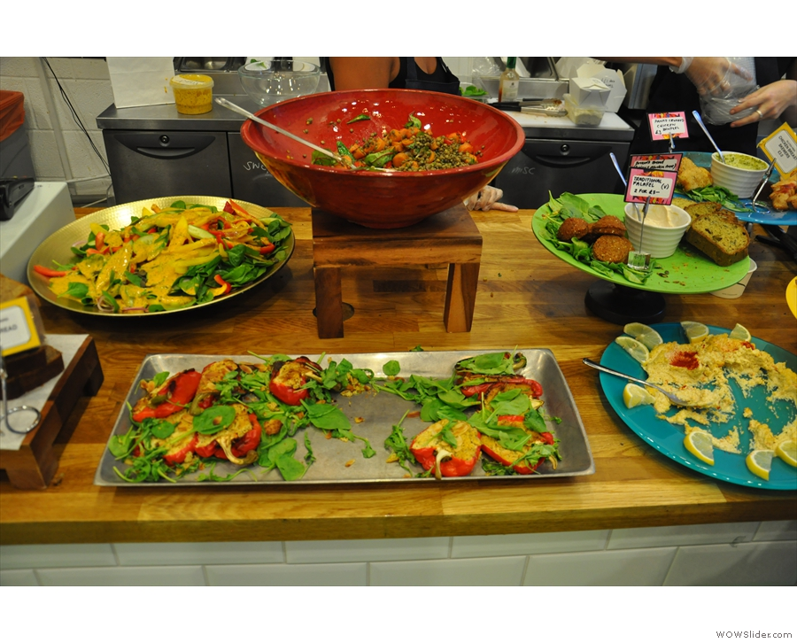... and then, at lunchtime, an amazing array of salads.