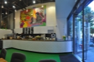 A panorama of the counter from my seat. There's quite a lot going on over there!