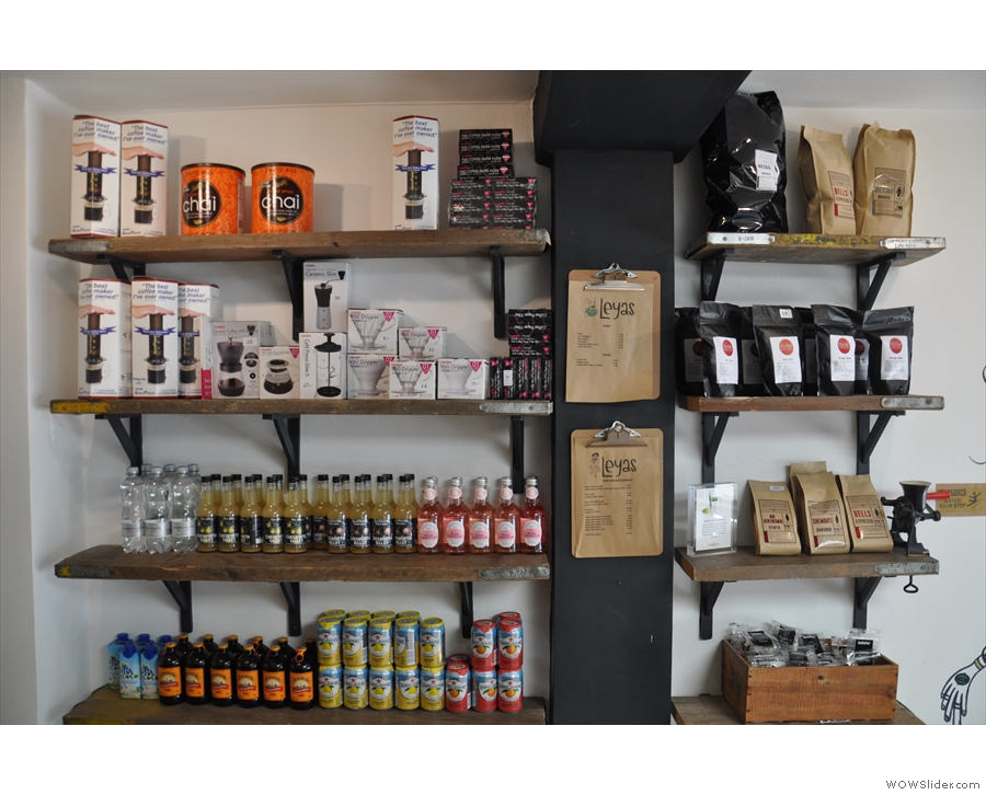 Leyas, however, is also about the coffee. There's coffee kit for sale...