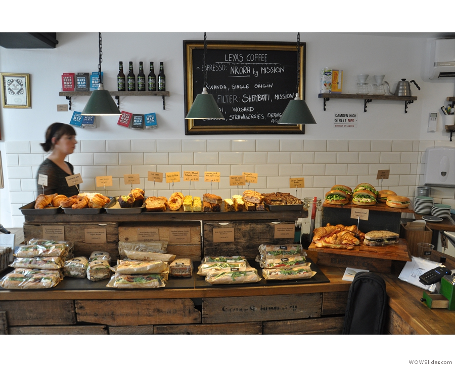 ... I've only ever been to Leyas for coffee. There are sandwiches below & cake on top.